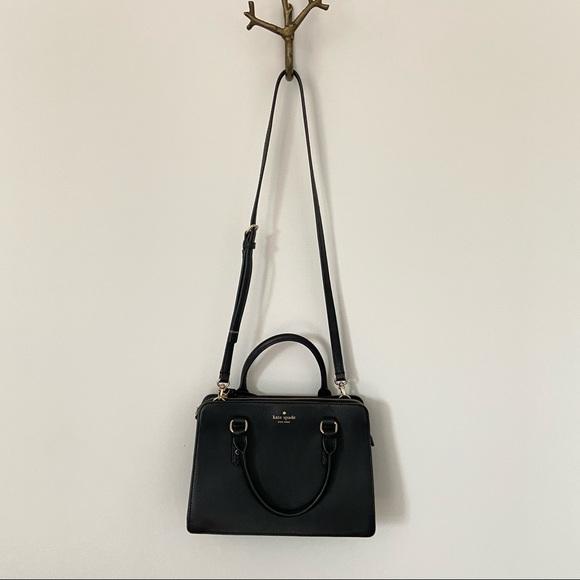 Kate Spade Black Pebble Leather 2-way Satchel